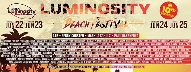 Christopher Lawrence joins line up for Luminosity Beach Festival
